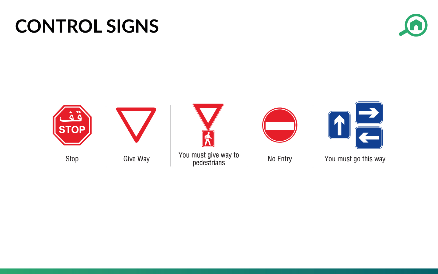 Control traffic signs in the UAE