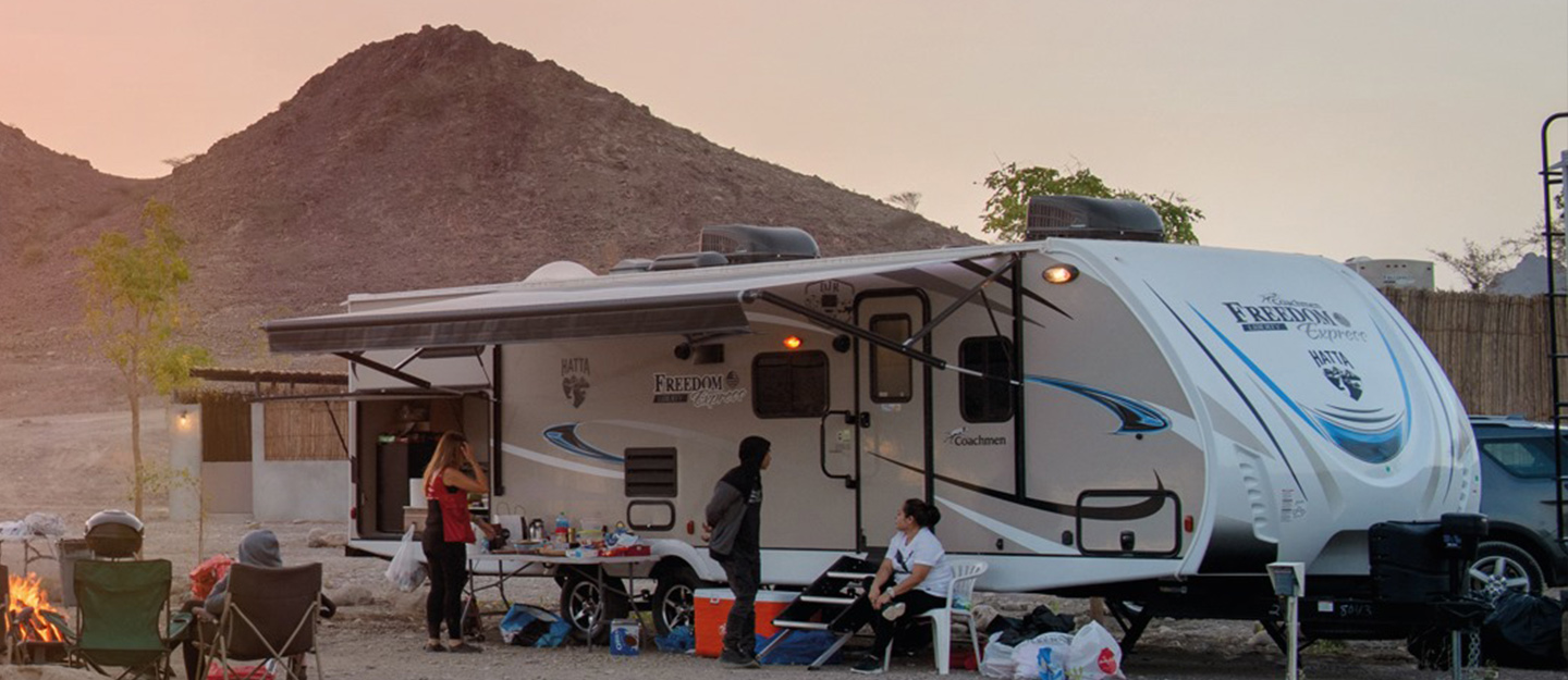 Trailer style hotels in the UAE