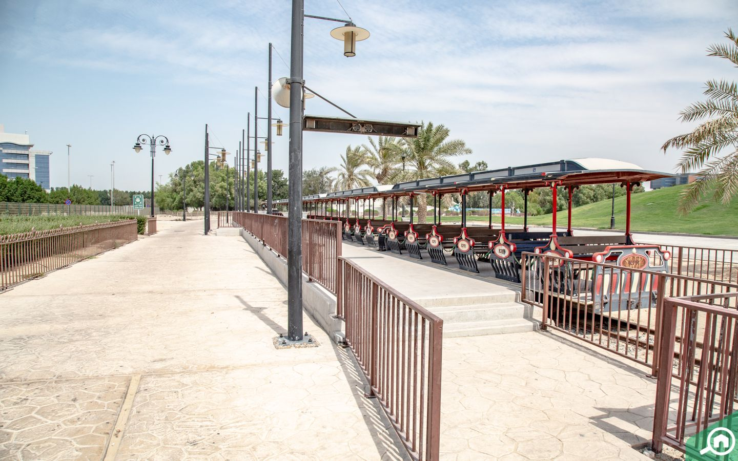 Khalifa park abu dhabi train