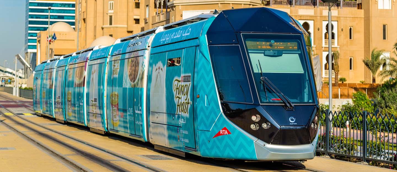 View of Dubai Tram