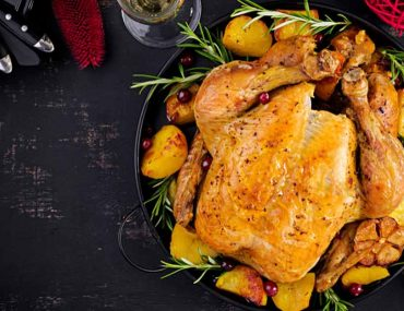 Christmas turkey with potatoes
