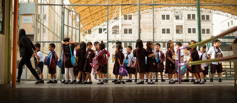 children at a school in uae