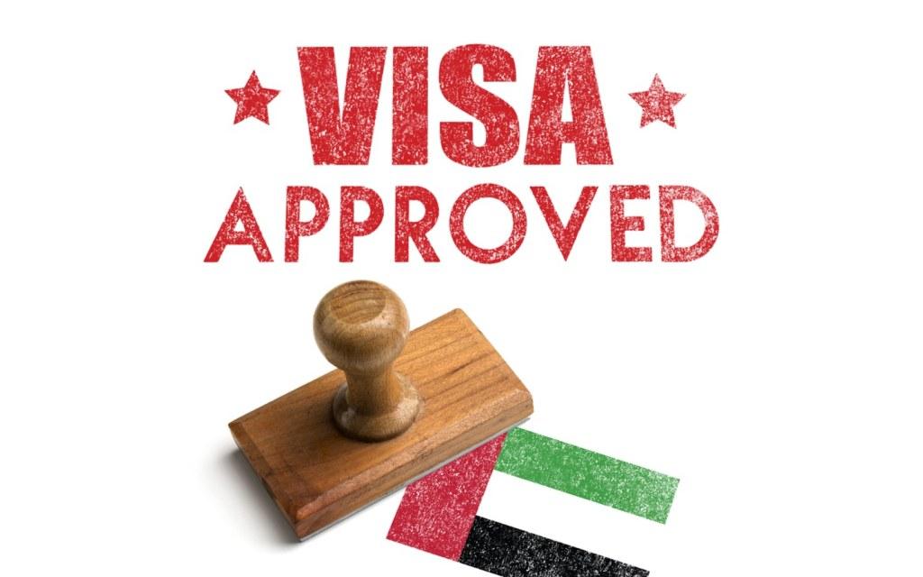 UAE visa approval stamp