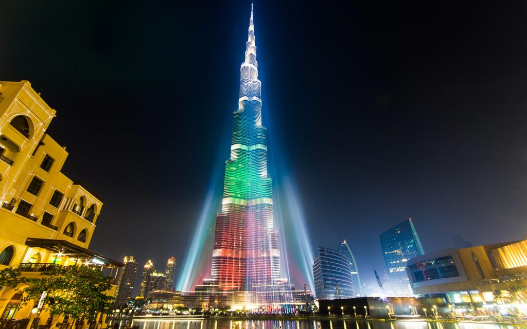 Burj Khalifa Light Show for UAE National Day 2019