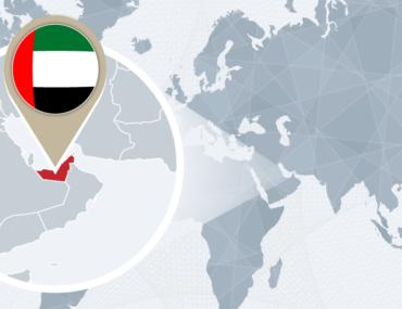 دولة الامارات على الخريطة