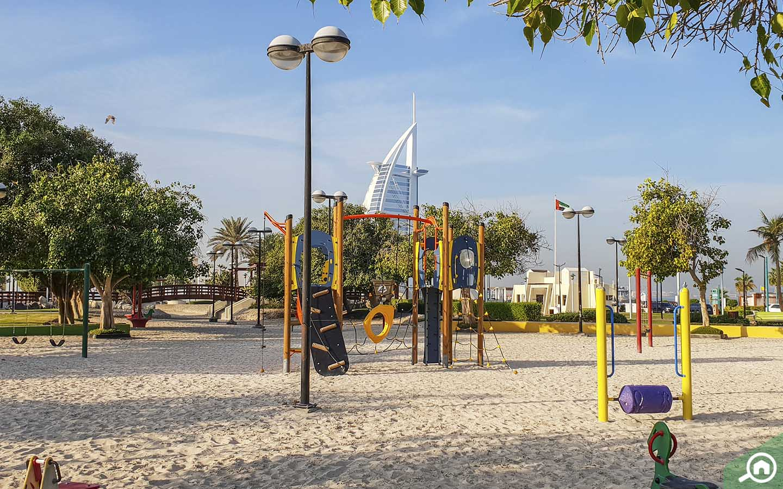 Play Area at Umm Suqeim Parks in Dubai