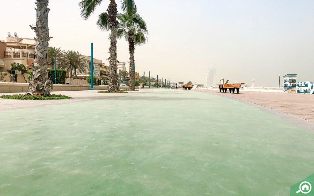 View of beach in Umm Suqeim