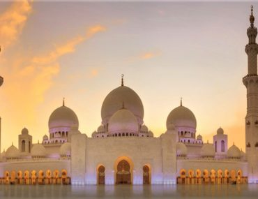 evening view of Sheikh Zayed Grand Mosque