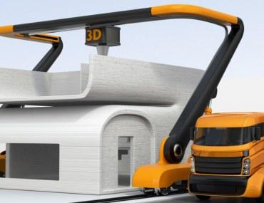 رسم توضيحي حول طباعة المنازل ثلاثية الابعاد