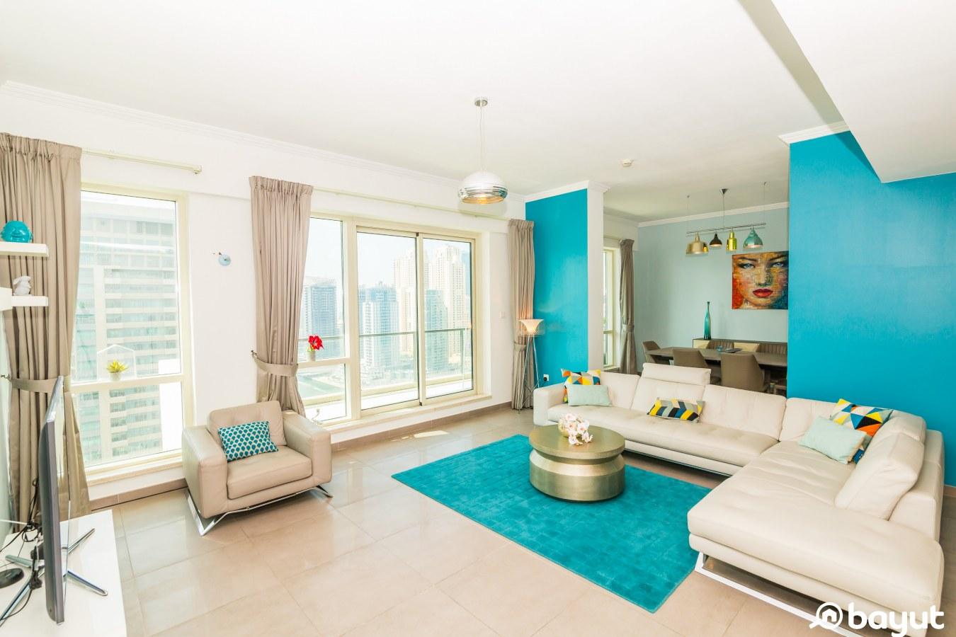Living room in the al majara apartment