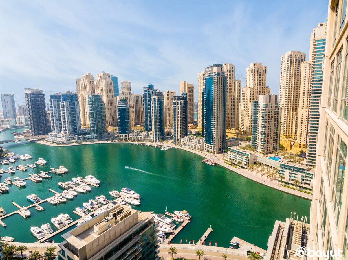 Dubai marina house of the week view