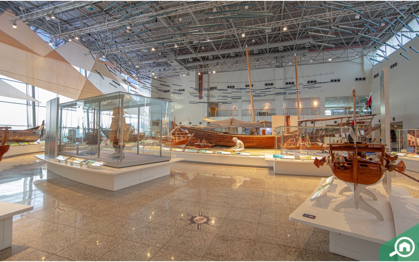 Sharjah maritime museum from inside