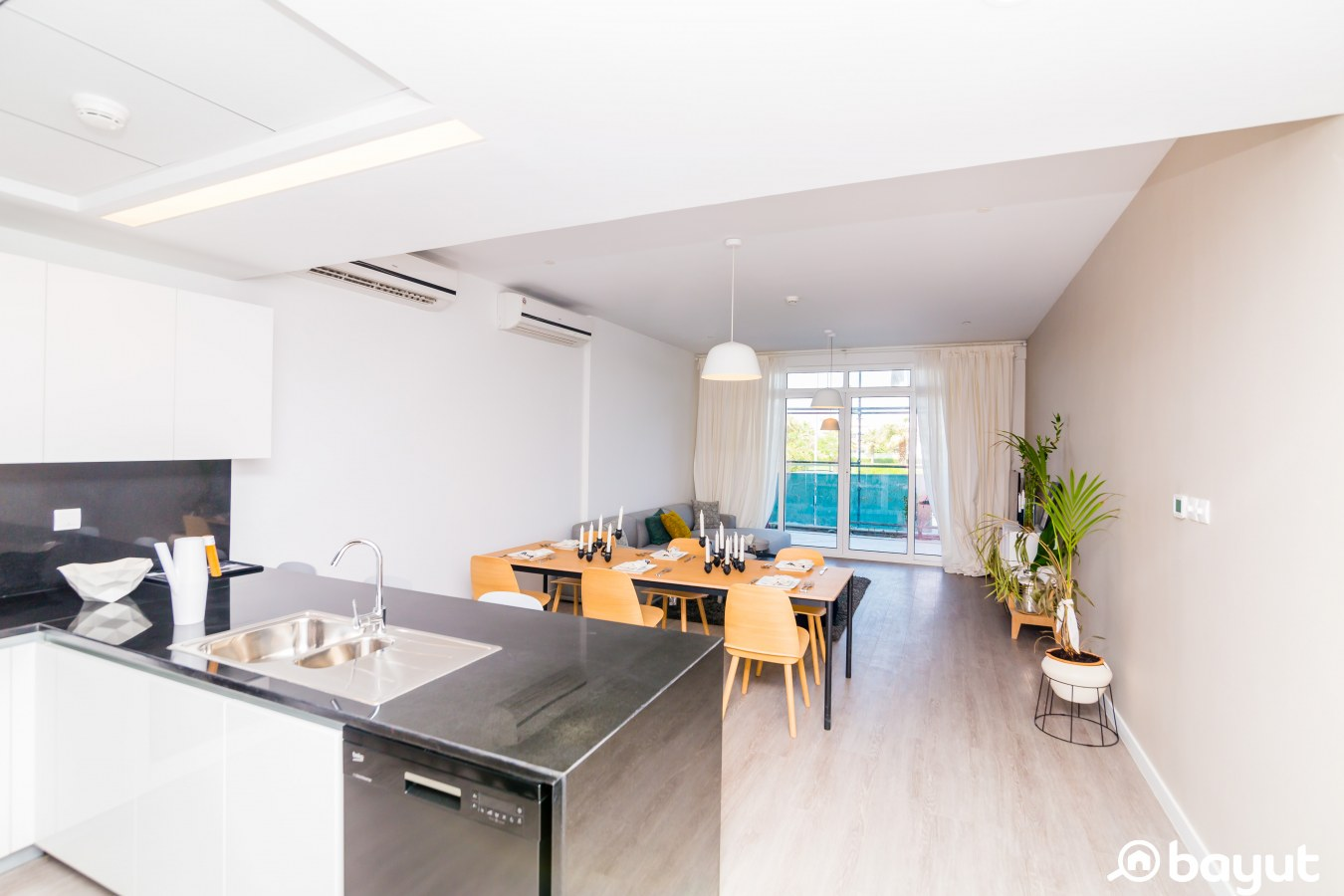 The open plan kitchen in One Park, JVT