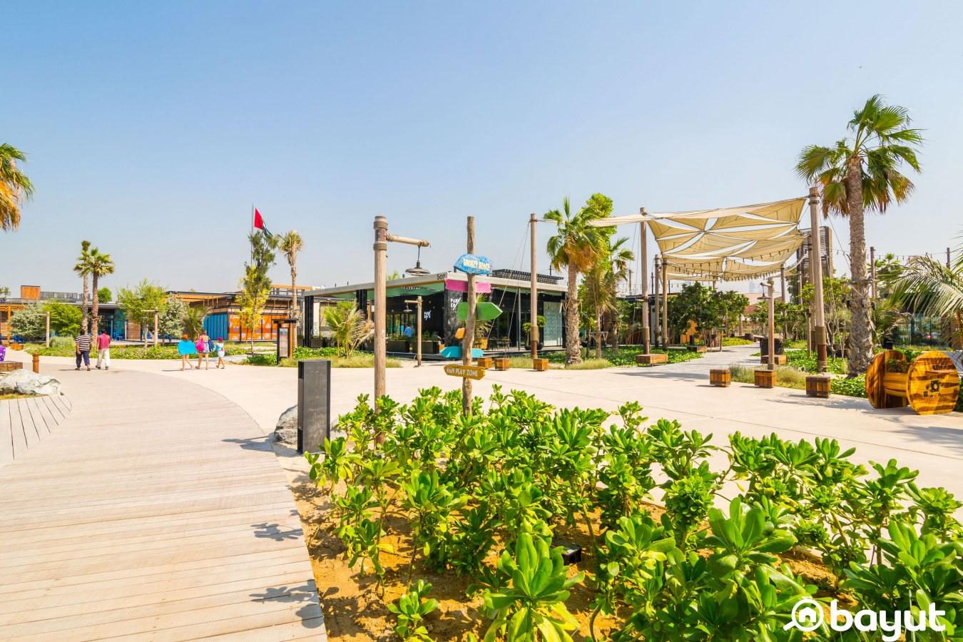 Landscaping at La Mer Dubai