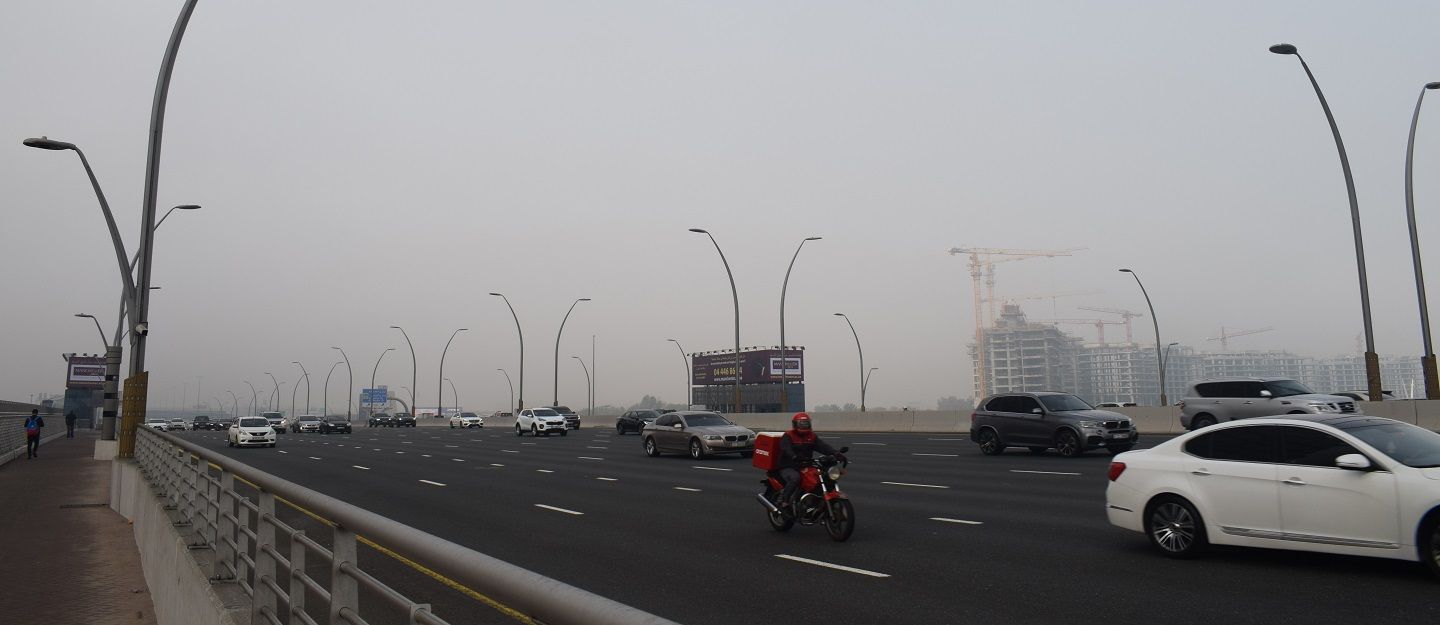 An Abu Dhabi highway monitored by the Vehicular Attention and Safety Tracker