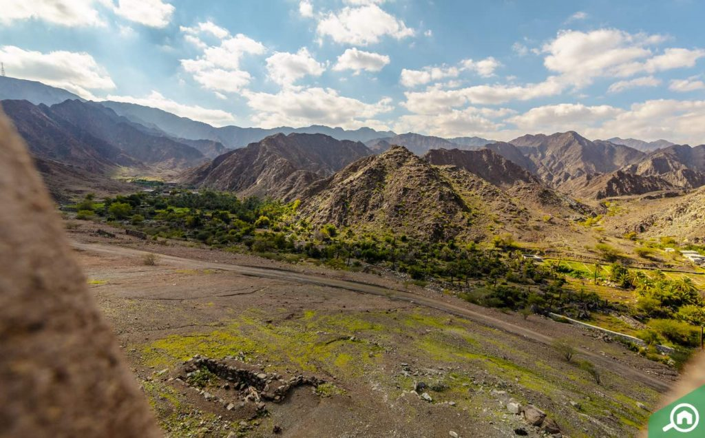 View from Al Hayl Castle at Wadi Hayl Fujairah