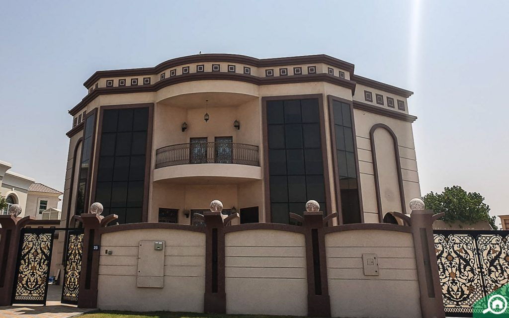 View of a villa in umm Suqeim
