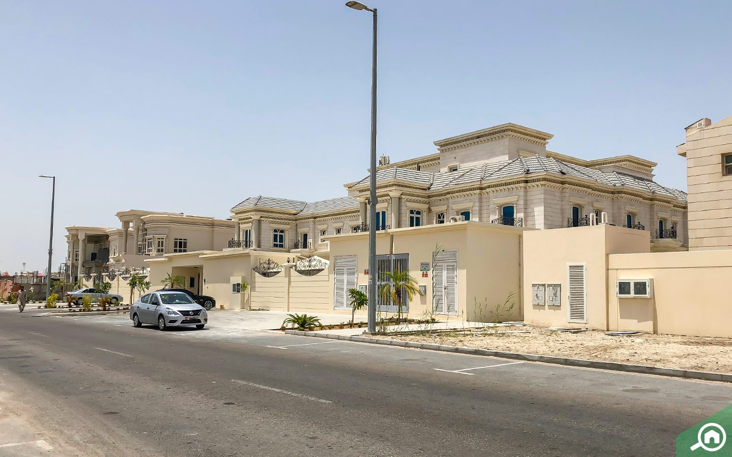 View of the villas for rent in Khalifa City A