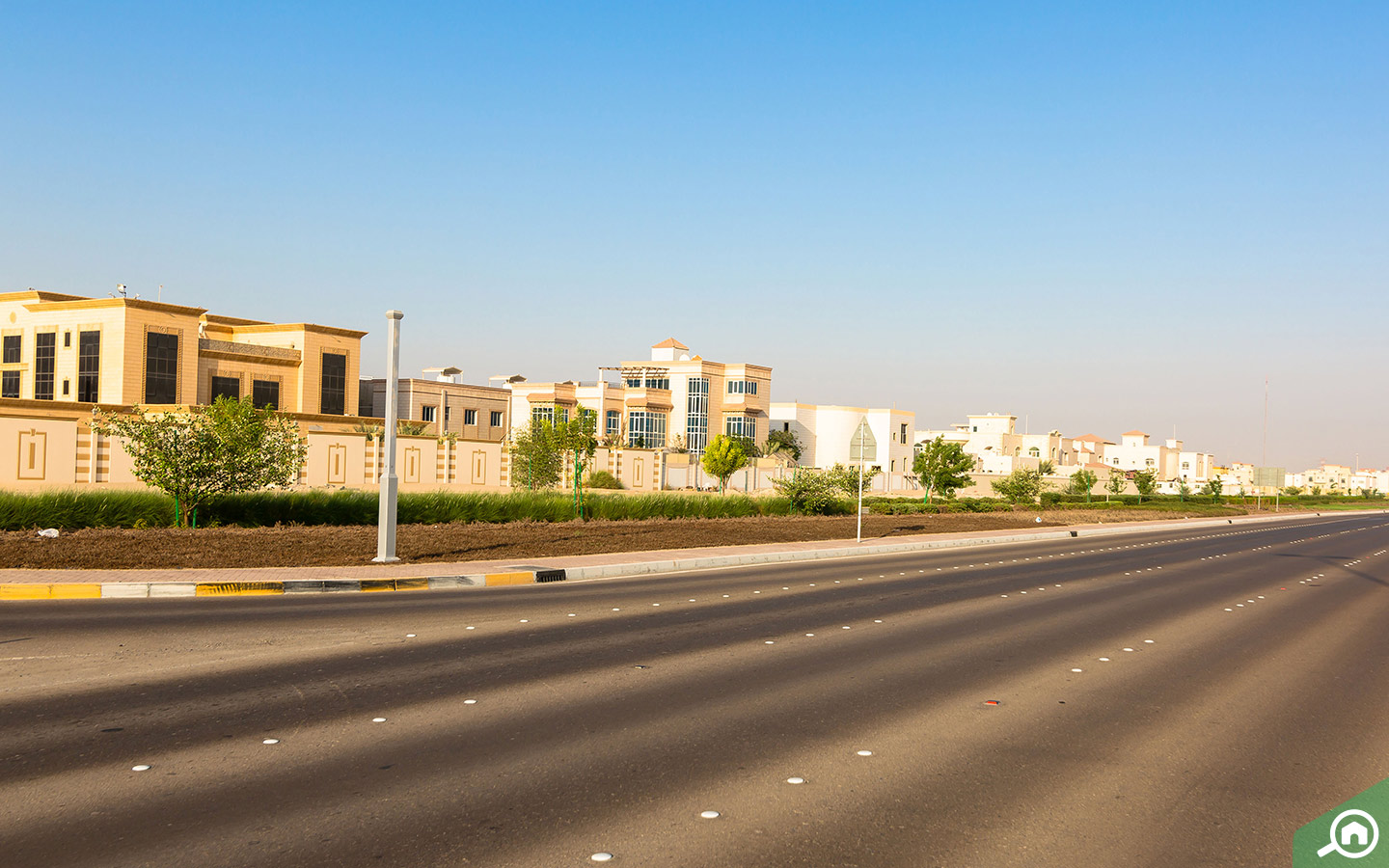 View of the villas for sale in MBZ City