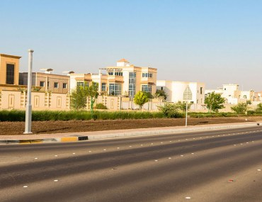 Street view of villas in MBZ City