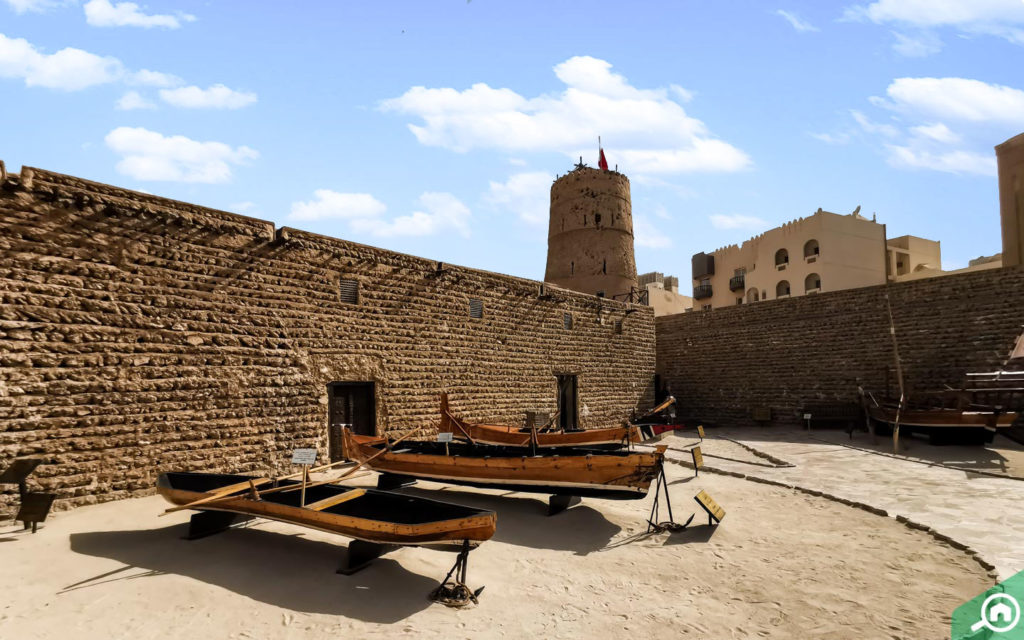 historic boat display at Dubai Museum