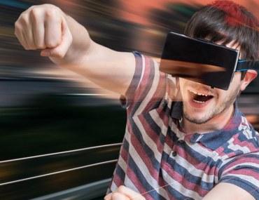 Boy enjoying VR in Dubai
