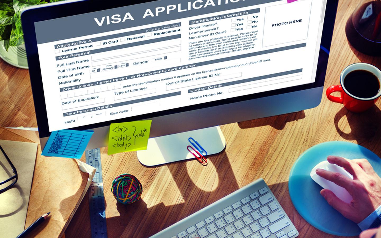Applying for visa online
