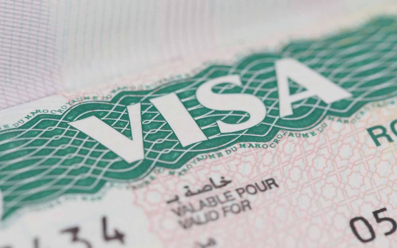 Close shot one of a Dubai tourist visa