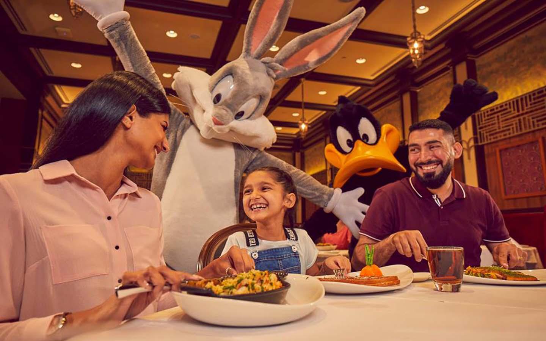 dining at WB World Abu Dhabi