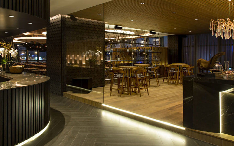 Interior of Wakame Dubai restaurant in Downtown Dubai