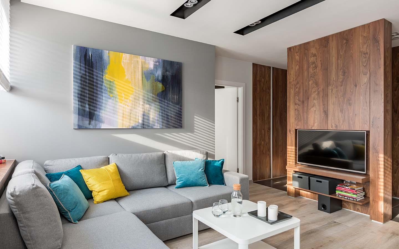 Wall art in living room