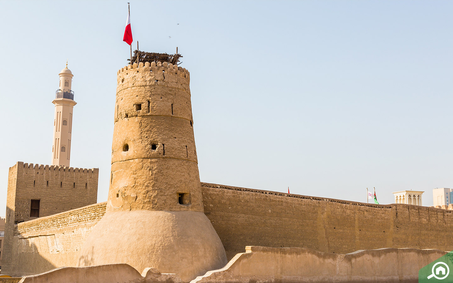 Watch Tower Al Fahidi Fort at the Dubai Museum Al Fahidi Street