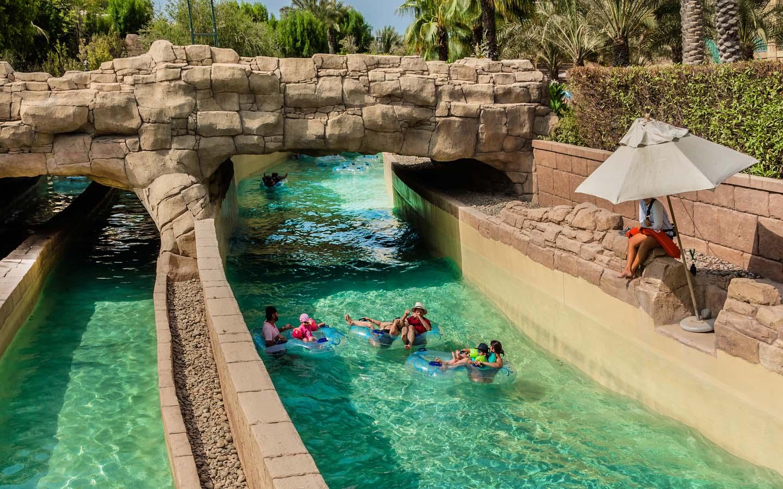 water slides at Aquaventure Dubai