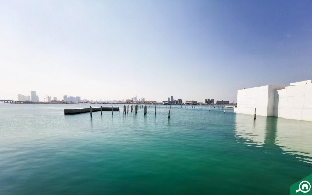 Waters around the Louvre Abu Dhabi