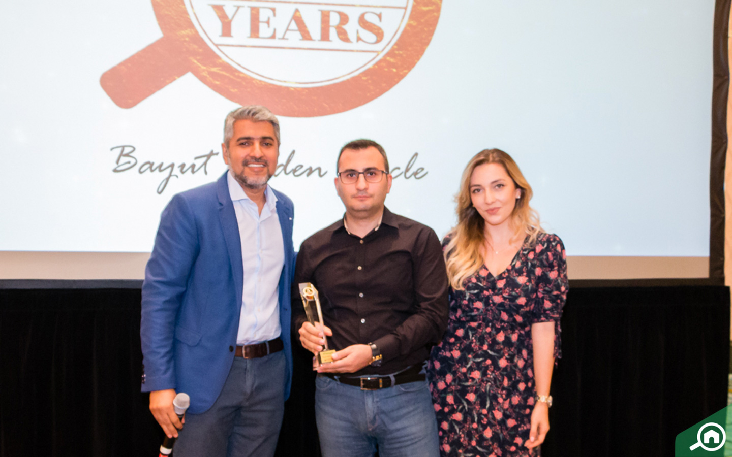 West Gate Real Estate receiving the Golden Circle award at the Bayut Iftar