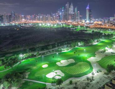 إحدى ملاعب الجولف في دبي