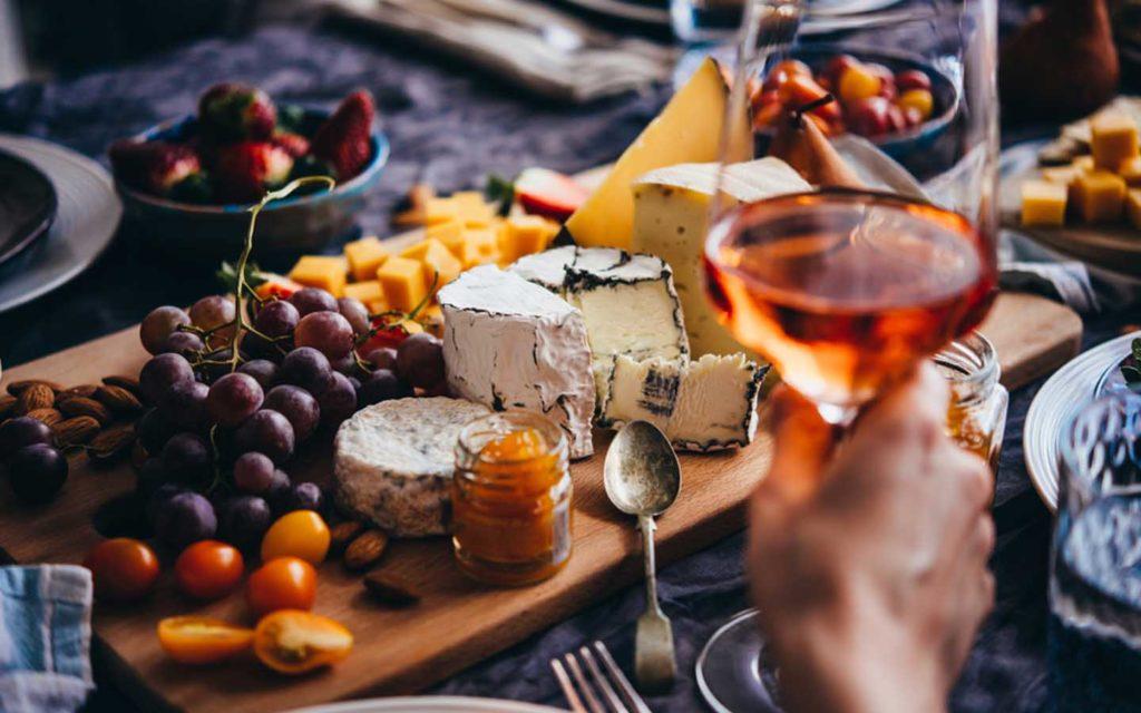 wine and cheese night in Dubai