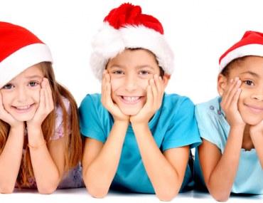 Kids in Christmas Caps