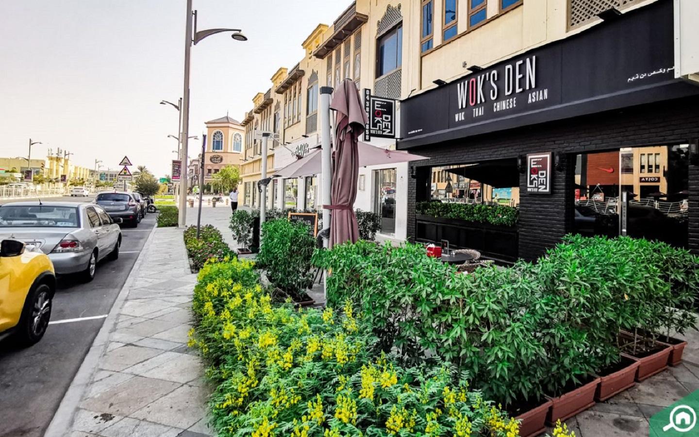 Main entrance of Wok's Den a hotspot for Dubai street food buffs