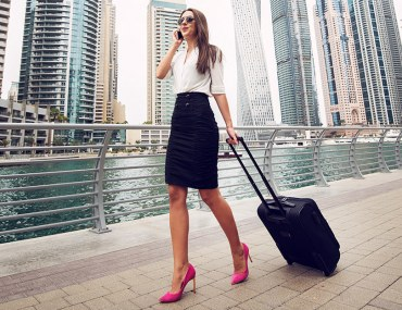 Woman in Dubai Marina