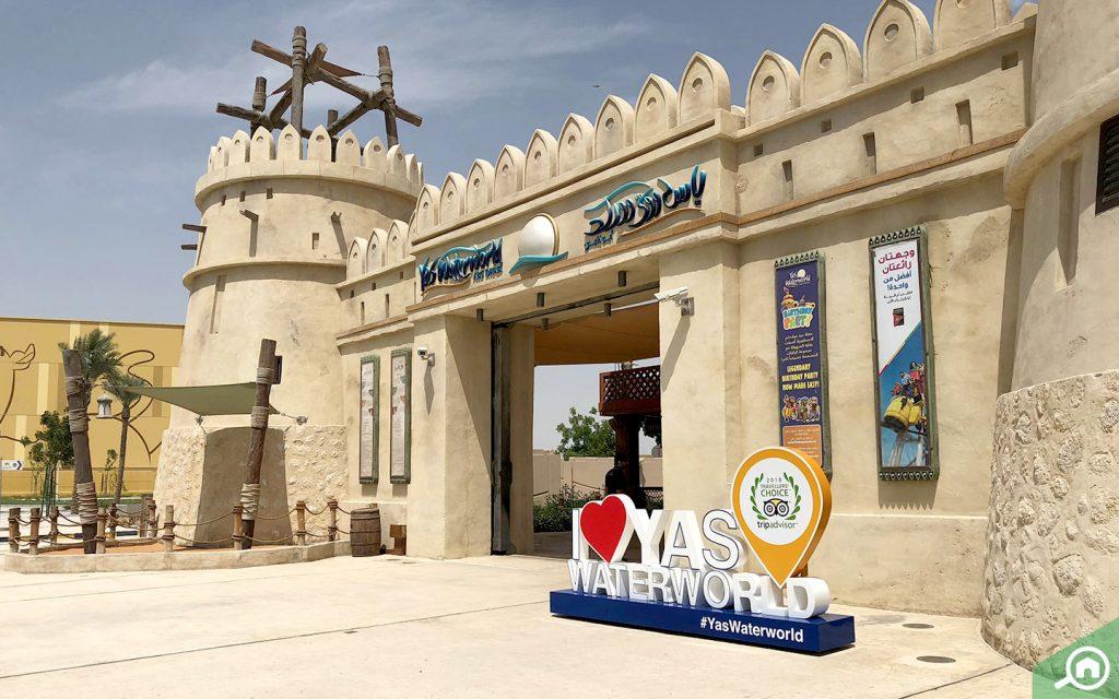 Yas Waterworld entrance