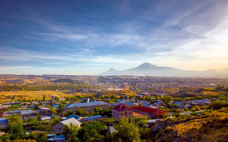 View of Mount Ararat and Yerevan