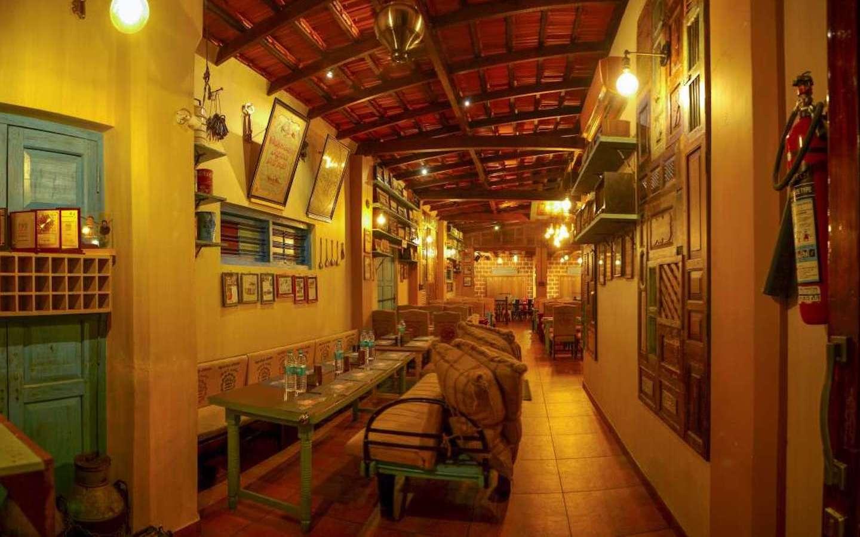 Retro interiors at Adaminte chayakada