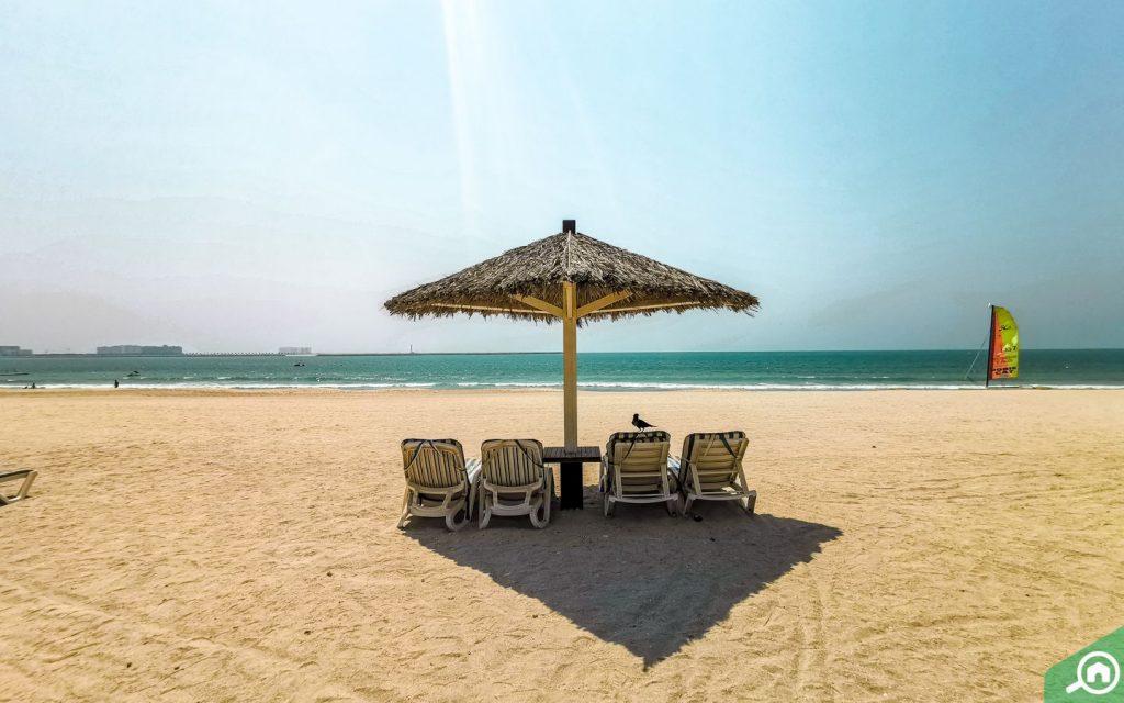 recliners at Al Hamra Beach Ras Al Khaimah