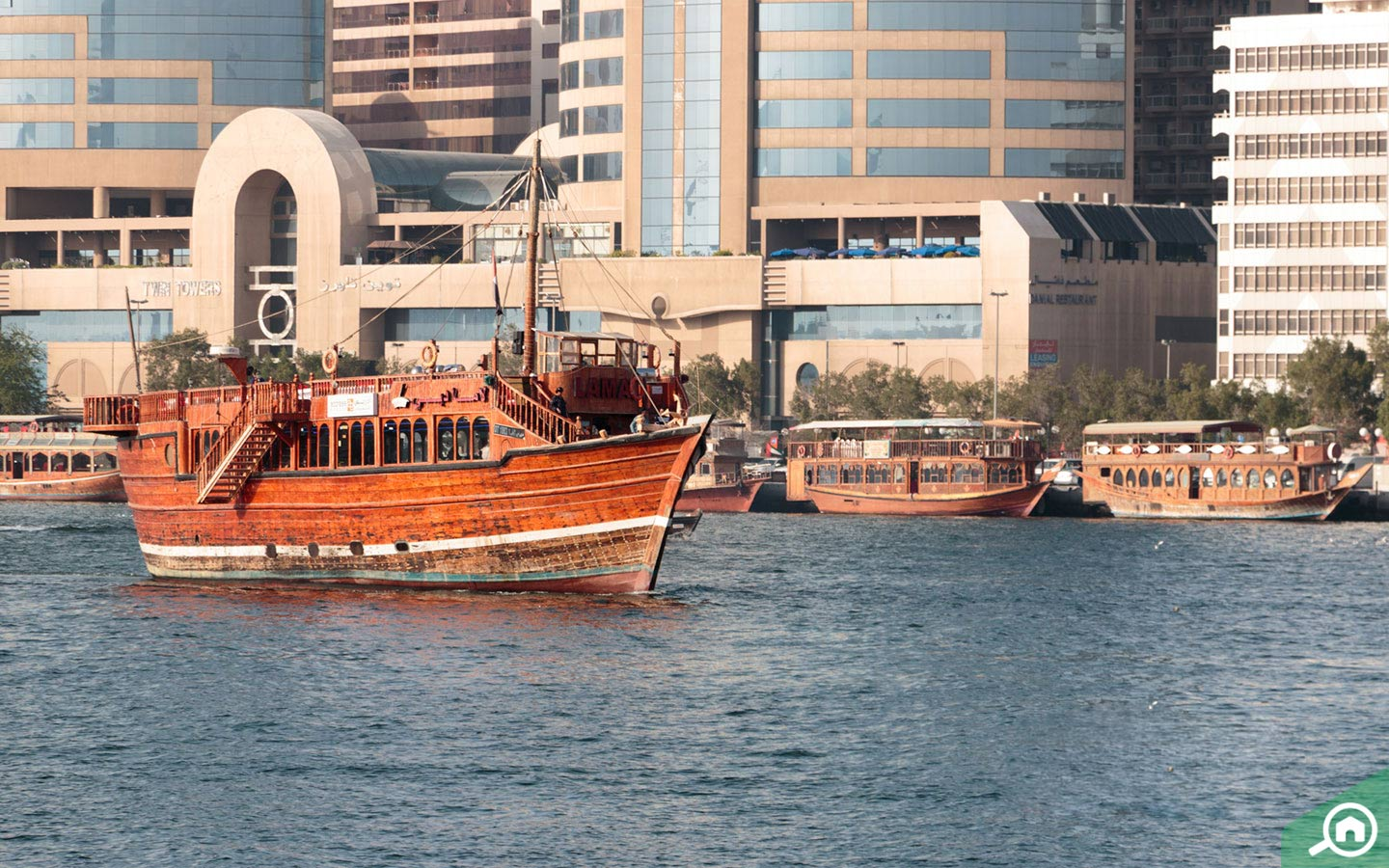 The Dubai creek seen from Al Seef is one of the must see things to do in Dubai for parents visiting