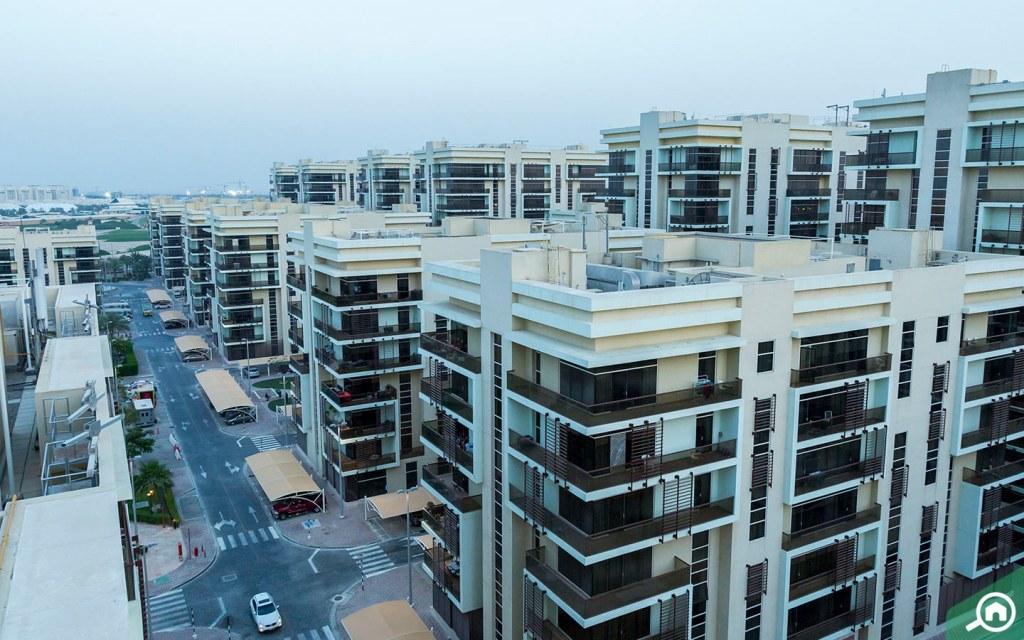 Al Rayyana apartment block,  Khalifa City A