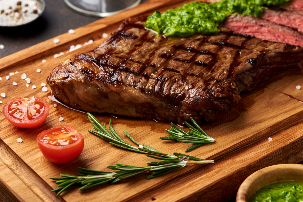 Grilled angus steak
