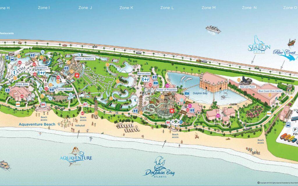 خريطة حديقة اكوافنتشر