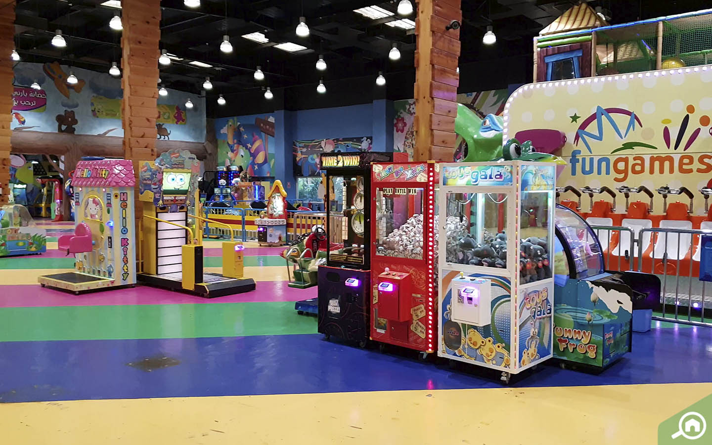 Atcade and play area at emirates park zoo