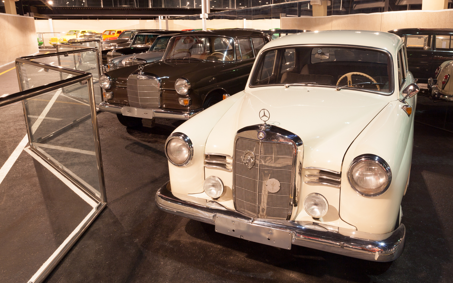 Car collection at Emirates National Auto Museum in Abu Dhabi